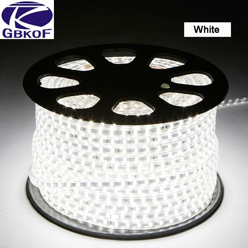 Tiras de Led ac220v smd5050 led luz de Comprimento : 1m/2m/3m/4m/5m/6m/7m/8m/9m/10m/12m//15m/18m/20m/25m