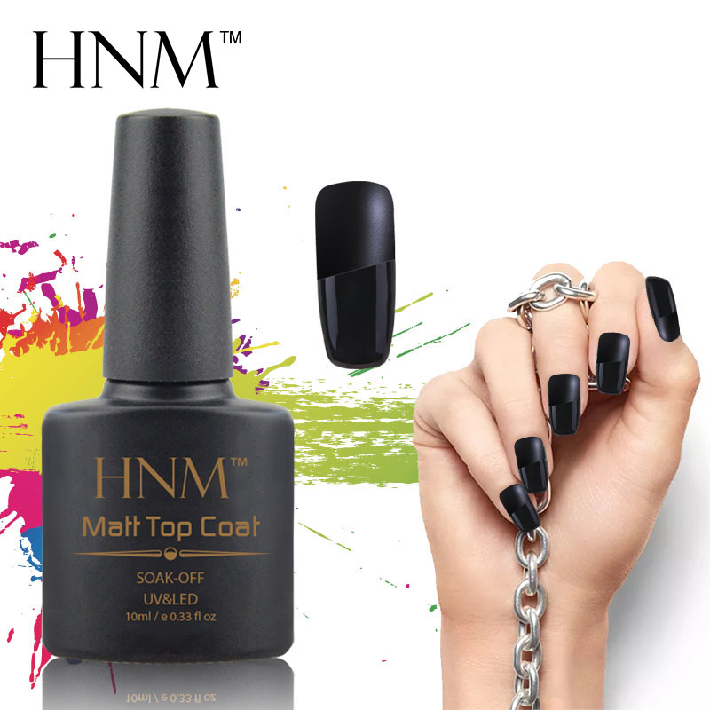 HNM 10ML Matte Top Coat Soak off Transparent