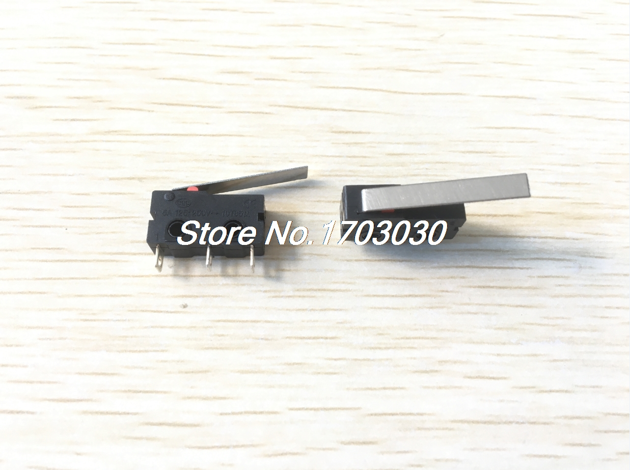 10 Pcs Micro Limit Switch Long Lever Arm SPDT Momentary Miniature Snap Action 5pcs safety micro limit switch v 15 1c25 roller lever snap action 250v 16a s08 drop ship