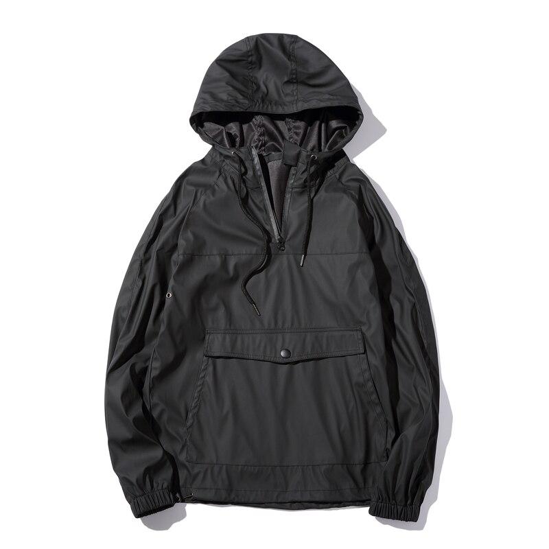 Nouvelle mode automne hommes PU cuir sweat à capuche pour homme veste survêtements de haute qualité hiver hommes Slim Fit avant poches hommes sweat