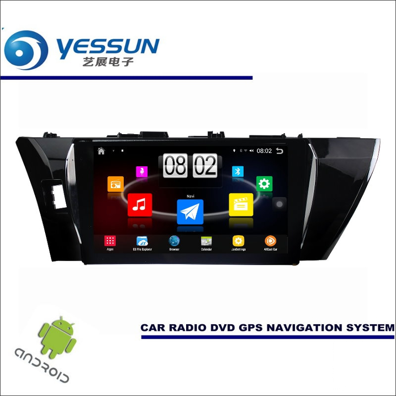 Yessun автомобиля Android мультимедийный плеер для Toyota Corolla 2014 Радио стерео GPS nav Navi Навигация (без CD DVD) 10.1 HD Экран