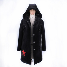 Direct supply from factory Winter Fashion hooded Cold resistant faux Sheep shearing women coat Cold resistant 2017 new Hooded