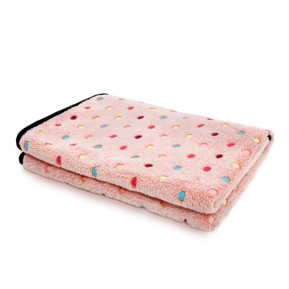 Envío gratis Super suave para mascotas Toalla Coral Fleece Manta raya punto para cachorro y gato toalla de baño S / M tamaño Pet Supplies