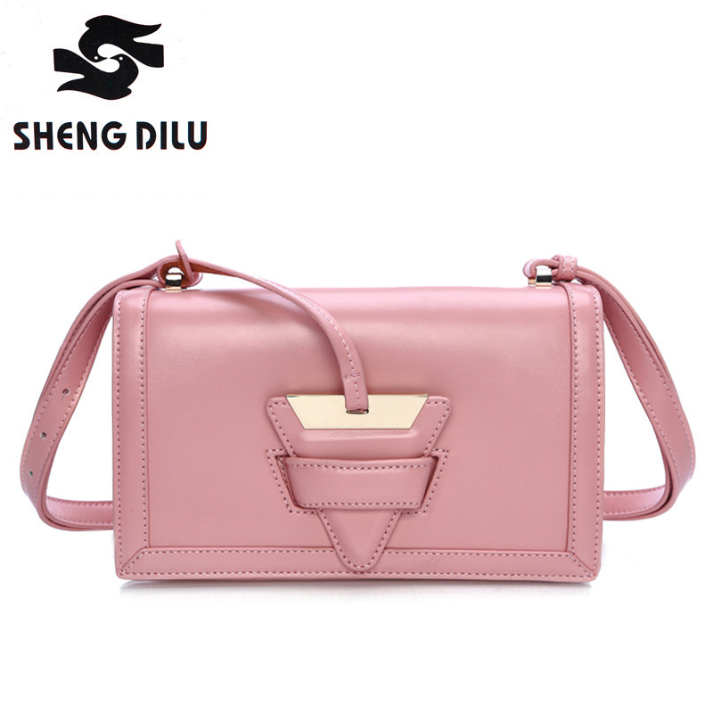 2016 New Summer Limited Candy Color Shoulder Bag Ladies Genuine Leather Handbag Women Messenger Crossbody Small Bag for female 2017 new summer limited sailor moon chain shoulder bag ladies lock pu leather handbag women messenger crossbody small bag