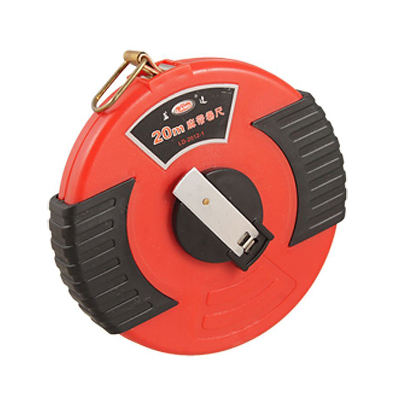 Affordable Black Red Enclosed Case 20M Long Retractable Fibre Tape Measure three ring retractable steel measure tape rule silver red 2 meters