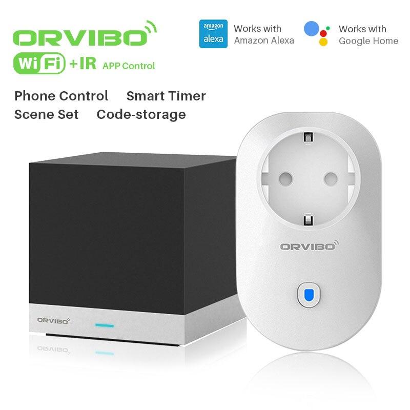 Orvibo Cube Magique Infrarouge À Distance Contorl et B25EU Minuterie WiFi Smart Power Socket Plug Pour Smart Home Automation