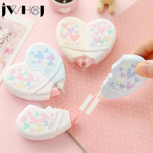 2 pcs/pair 10M cute Love Heart correction tape material escolar kawaii stationery office school supplies papelaria students gift