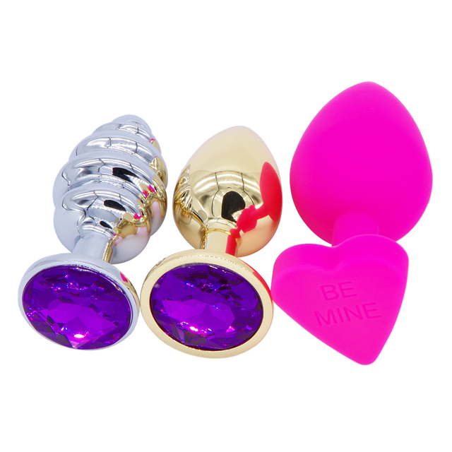 Stainless Steel Metal Anal Plug Dildo Sex Toys