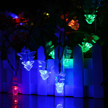ledniceker multi colored solar led string lights with garden solar panel for garden patio christmas tree parties and all outdoor and indoor activities decoration 4 8 meters long 20 waterproof bulbs DCOO 20/30/50LED Solar String Lights Christmas Tree Lights Waterproof Decoration Festival Flash Light For Indoor/outdoor Garden