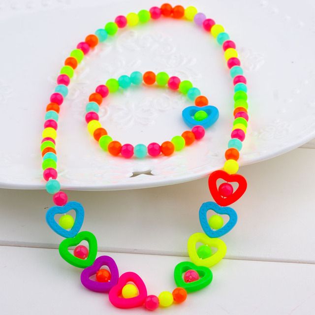 Pentagram children summer style neckl brac Suit  baby sweet hair accessories jewelry wholesale spring new 2019