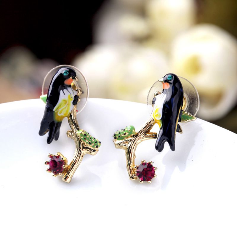 the newest fashion stud earrings color cute bird of swallow pendientes brincos de festa high quality summer style for women