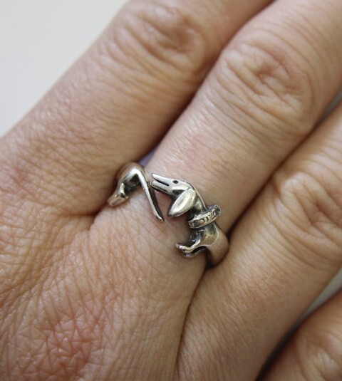 Оптовая продажа регулируемое кольцо в стиле ретро панк такса