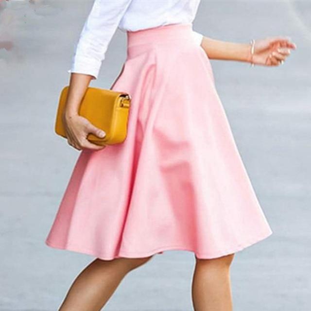 a lijn rok roze