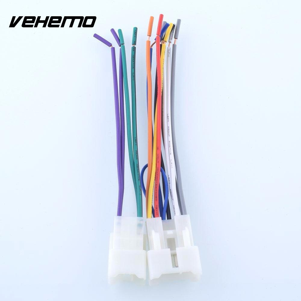 Vehemo Cd Player Harness Wire Aftermarket Radio Install For Auto Wiring Color Wires Toyota Scion Car In Cables Adapters Sockets From Automobiles Motorcycles On