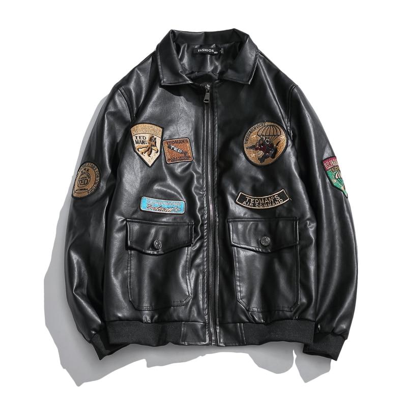 Qualité Hommes Vestes En Cuir Moto Classique Marque Vêtements Veste Vélo Cowboy Veste Mâle Simili Cuir décontracté Streetwear Manteau