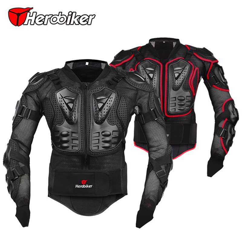 Professional Motorcycle Jacket Protective Armor Jackets Motocross Clothing Off-Road Protector Motorcycle Full Body Motorbike herobiker motorcycle jackets motorcycle armor racing body protector jacket motocross motorbike protective gear neck protector