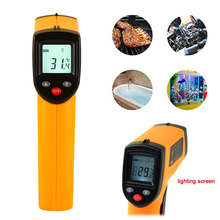 цена на Measuring Tools Temperature Measurement Tool Industrial Thermometer ABS Yellow Black Contactless Health with LCD Top Grade