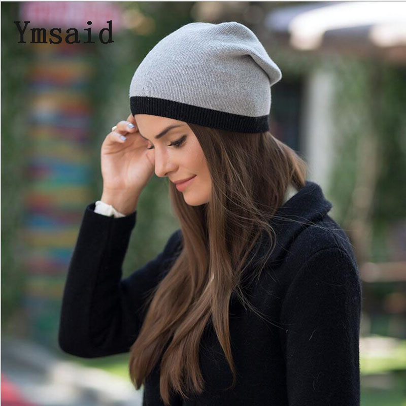 2017 New Women's Winter Hat Knitted Wool Beanie Female Fashion Skullies Casual Outdoor Mask Ski Caps Thick Warm Hats for Women fibonacci winter hat knitted wool beanies skullies casual outdoor ski caps high quality thick solid warm hats for women