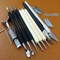9 sztuk Craft Leather Swivel Carving Knife Modelowanie Tłoczenia Forniru Rysik Narzędzie