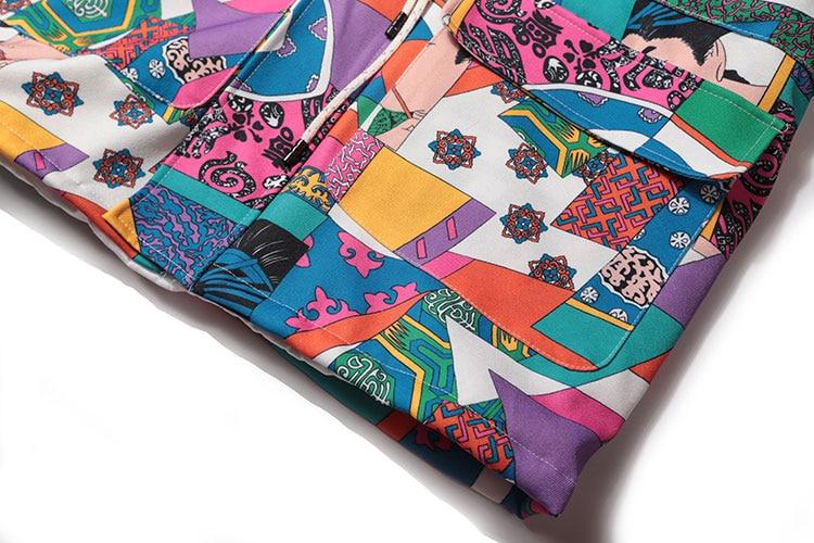 Japanese Ukiyo E Style Color Block Patchwork Jacket 8