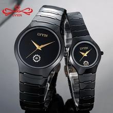 LVYIN Luxury Quartz Men and Women Lover Couple Watches Full Ceramic Waterproof F