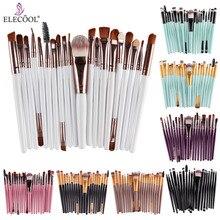 ELECOOL 20/12/6/4Pcs Make Up Brushes Set Eye shadow Concealer Makeup Brushes Set pincel maquiagem Cosmetic Makeup Tool
