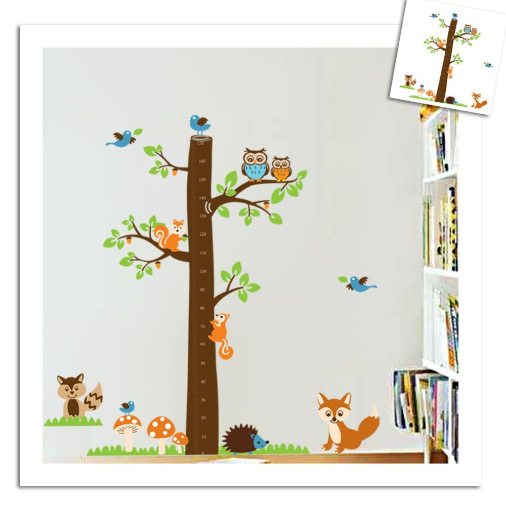 Aliexpress buy new growth height chart tree wall stickers aliexpress buy new growth height chart tree wall stickers for kids rooms cartoon decals home decoration art mural decal baby nurseryroom poster from amipublicfo Gallery