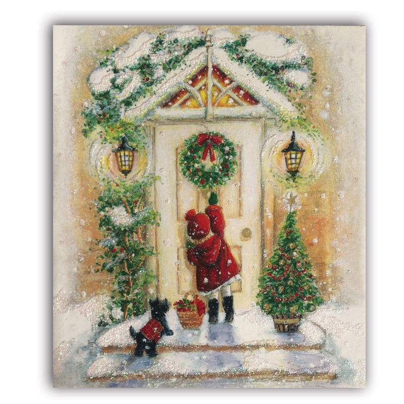 Vintage Christmas Card.Us 2 57 22 Off Diy Diamond Painting Vintage Christmas Greeting Card Set Full Square Round Drill 3d Embroidery Cross Stitch Mosaic Home Decor In