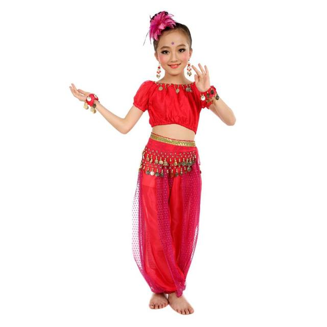 74913afad29 Chiffon Belly Dance Clothes 2019 Hot Sale Handmade Girl Costumes Kids Belly  Dancing Beading Egypt Dance Cloth
