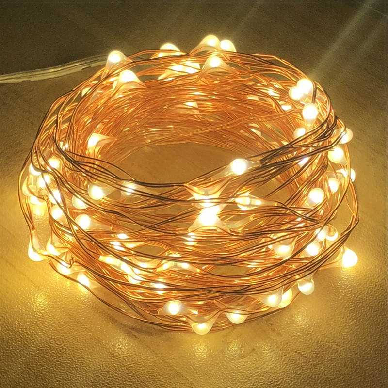 2M 5M 10M Copper Wire LED String Lights 50 100 LED Starry Rope Lights Indoor Outdoor Lighting Home Garden Christmas