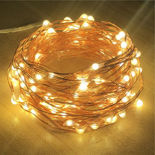 2M 5M 10M Copper Wire LED String Lights 50 100 LED Starry Rope Lights Indoor Outdoor Lighting Home Garden Christmas цена и фото