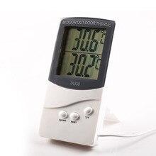 1 шт. белый цифровой lcd внутренний/наружный термометр измеритель температуры с функцией памяти