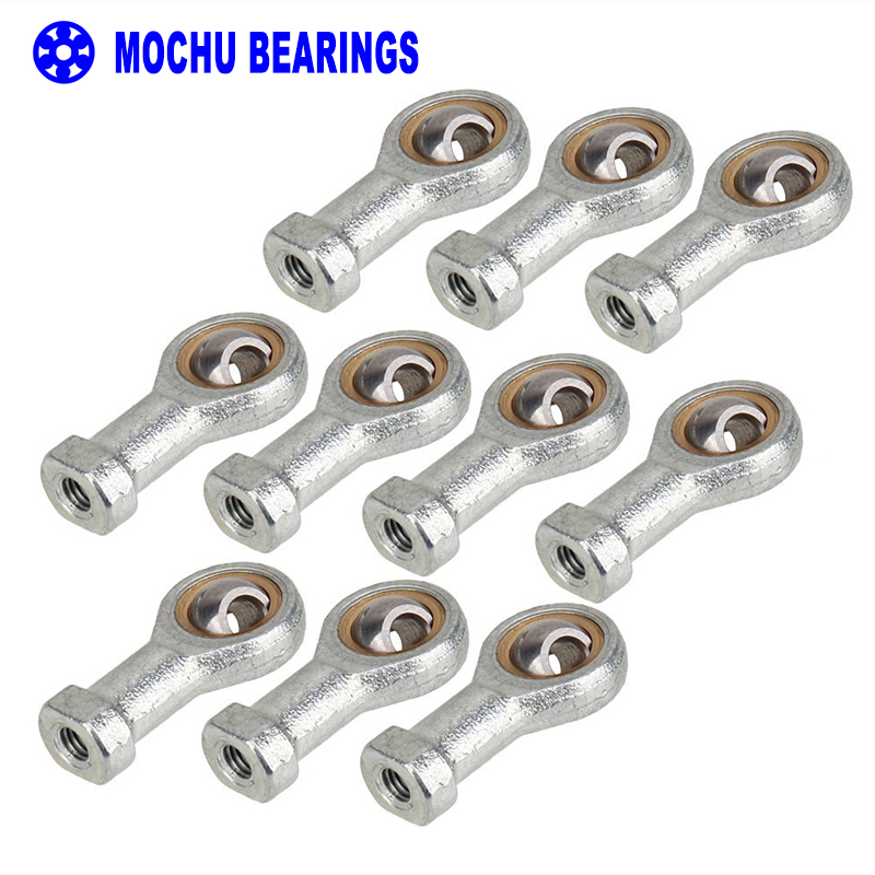 10pcs 6mm SI6T/K PHSA6 right hand female thread metric rod end joint bearing The rod end body internal thread with right hand 1pcs lot 16mm female right hand thread rod end joint bearing metric thread m16x2 0mm si16t k phsa16 brand new