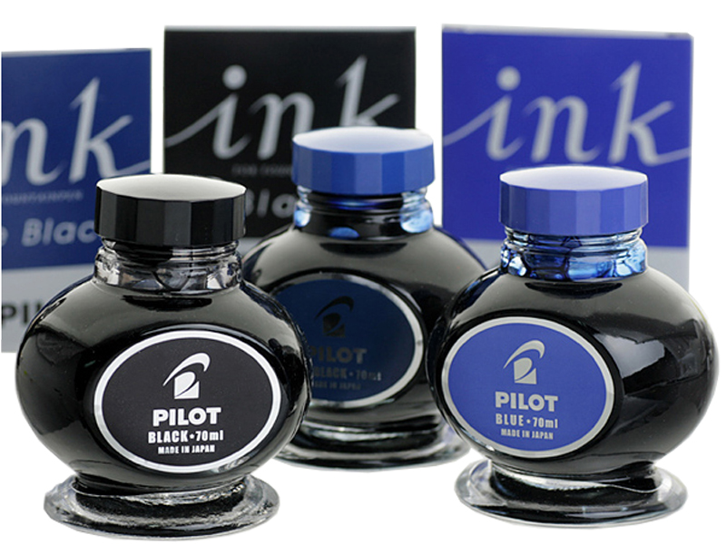 Pilot ink-70ml  Fountain pen ink Original Japan glass bottle ink for Fountain pens office and school stationery Free Shipping pilot original japan coloring ink iroshizuku natural color bokusui ink 50 50ml 24 colors