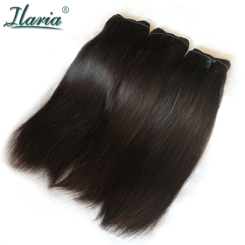 ILARIA Brazilian Virgin Hair Straight Double Drawn Unique Products No Short Hair Sew In Human Hair Weave 3 Bundles Fumi Hair