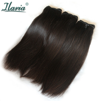 ILARIA Brazilian Virgin Hair Straight Double Drawn Unique Products No Short Hair Sew In Human Hair Weave 3 Bundles Fumi Hair