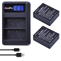 2pc 1800mAH BLH 1 BLH1 BLH 1 Rechargeable Camera Battery + LCD USB Dual Charger for Olympus E M1 Mark II EM1 2 EM1 Mark Camera