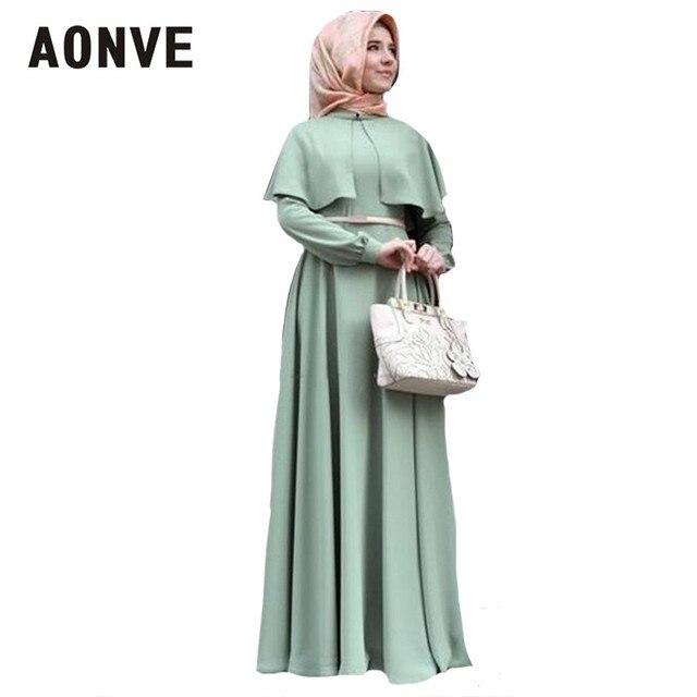 فساتين إسلامية Aonve رداء باكستاني للنساء قفطان إسلامي شال عباية للعيد رسمي نسائي قفطان مغربي ملابس حريمي إماراتية 1