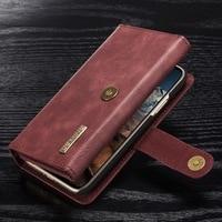 YISHANGOU Luxury Genuine Leather Flip Wallet Retro Phone Cases For IPhone X 8 Plus 6 6S