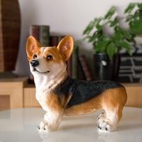 Imitation resin animal sculpture handicraft dog furniture living room TV cabinet wine cabinet Home Furnishing Ornament