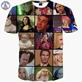 Mr.1991INC T-shirt men summer tops tees print Nicolas Cage Rage Animal stars slim 3d t-shirt short t shirt Asia M ~ XXL