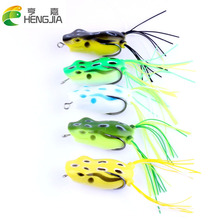 2017 New 5pcs/lot Fishing Lures Soft Lures Artificial Frog 5.5cm 12g Fishing Bait Snakehead Top Water Crankbait Lures HJ106