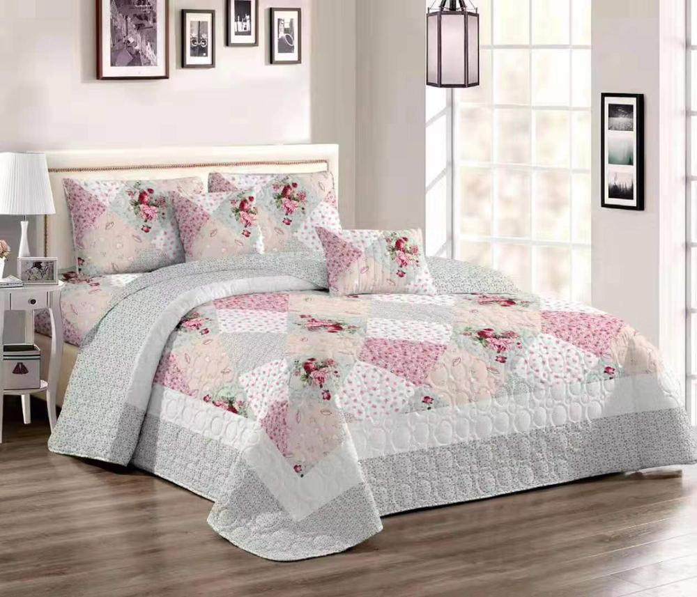 Comfortable high-grade cotton bedding quilted bed cover 220 * 240 double bed autumn and winter cotton bed coverComfortable high-grade cotton bedding quilted bed cover 220 * 240 double bed autumn and winter cotton bed cover