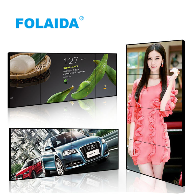 Folaida 49 inch 3.5mm LCD video wall with LG panel TFT-LED for LCD monitoring system,LCD TV display wall,LCD signage wall ilooker 28e 28 inch lcd led video monitor hood sunshade sunhood for dell hp viewsonic philips samsung lg eizo asus acer benq aoc