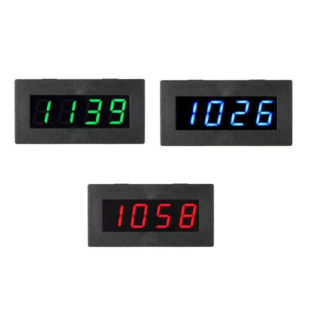 4LED Frequência Digital Medidor de Velocidade Tacômetro RPM Tester 5-9999R/M DC8-15V C5P3