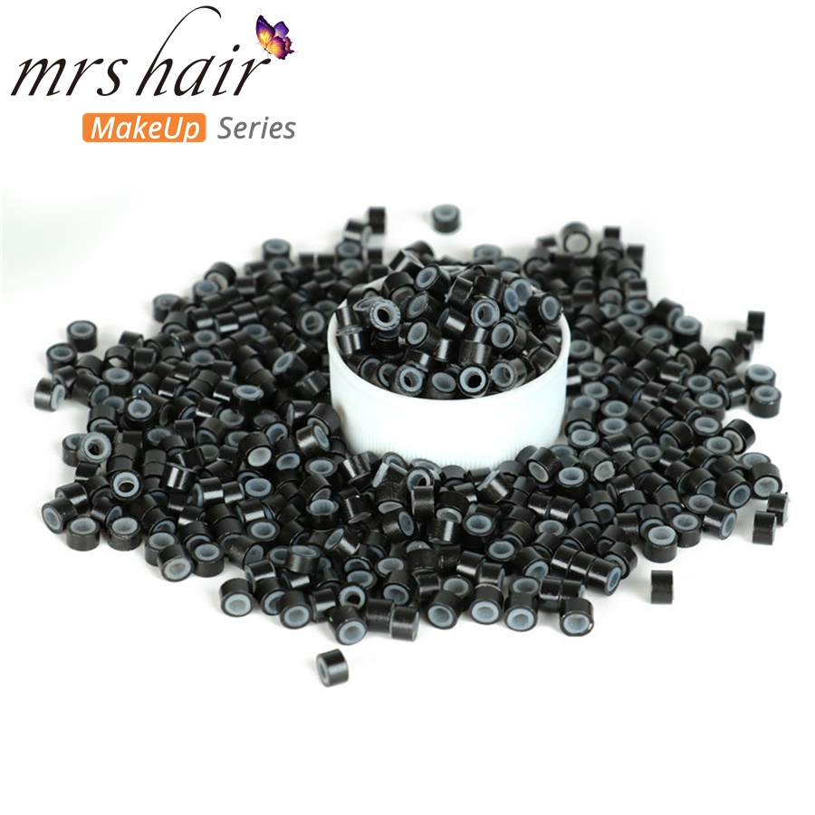 Silikon Mikro Tautan Manik-manik Manik-manik Rambut + Jarum Kait + - Perawatan rambut dan styling - Foto 4