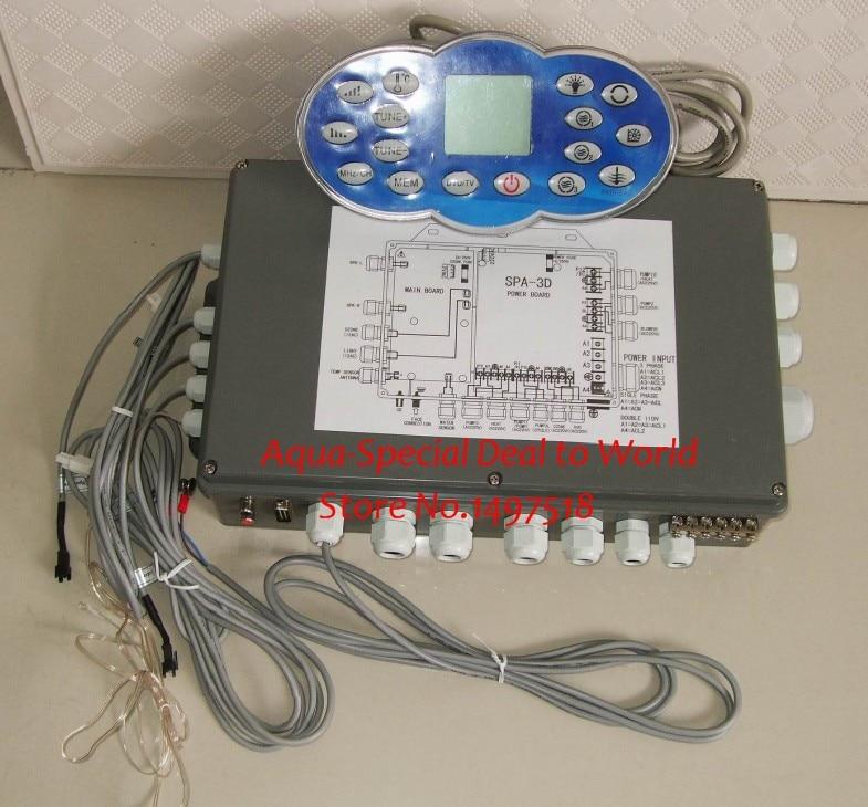 Chinois Papillon spa contrôleur pack système KL8-2H-DISI affichage panneau + boîtier De Commande avec SPA-3D power board pour JNJ spa