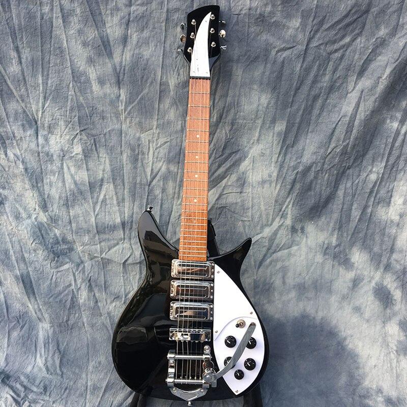Galilea alta quality325 chitarra elettrica, formato standard, tastiera ha vernice lucida, accessori Neri. foto Reali! spedizione gratuita!!