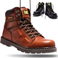 Men's Martin Boots Cow Leather Work Shoes Winter Hiking Outdoor Climbing Rubber Bottom Non slip Safe Working Boots For Man