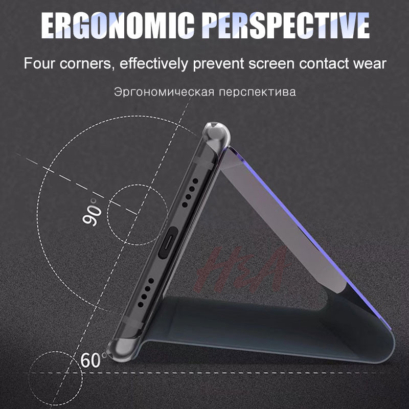Image 4 - H&A Clear View Smart Mirror Phone Case For Xiaomi Redmi 5 Plus Note 5 5A 4X Flip Cases For Xiaomi 8 SE 6 6X Leather Back Cover-in Flip Cases from Cellphones & Telecommunications